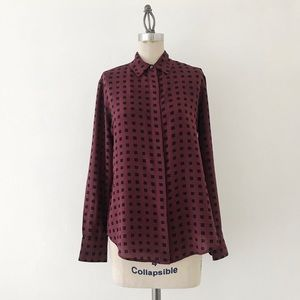MADEWELL | Silk Geometric Blouse